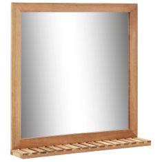 shumee Koupelnové zrcadlo 60 x 12 x 62 cm masivní ořechové dřevo