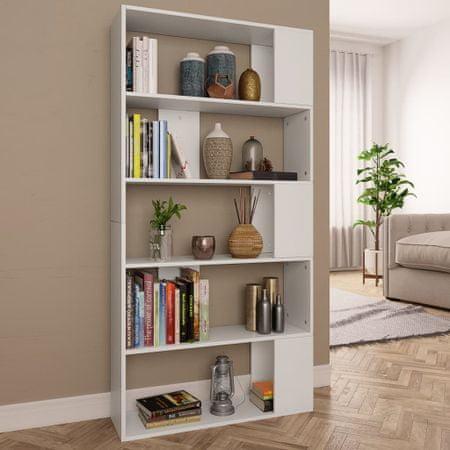 Regał na książki/przegroda, biały, 80x24x159 cm, płyta wiórowa