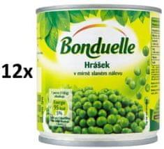 Bonduelle Hrášok v mierne slanom náleve 12 × 200g