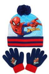 SETINO Chlapčenská čiapka a prstové rukavice Spiderman - tmavo modrá