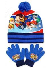 SETINO Chlapčenská čiapka a prstové rukavice Lapková patrola - Paw patrol- svetlo modrá