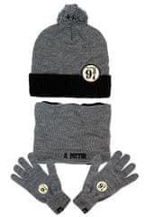 SETINO Chlapčenská čiapka, šál a prstové rukavice Harry Potter - sivá