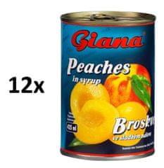 Giana Broskyne v mierne sladkom náleve 12 × 425ml