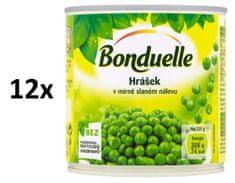Bonduelle Hrášok v mierne slanom náleve 12 × 400 g