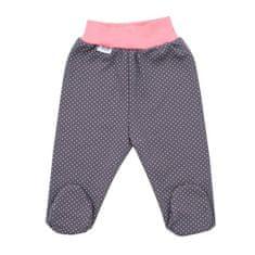 NEW BABY Dojčenské bavlnené polodupačky New Baby Ballerina 56 (0-3m) Ružová