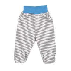 NEW BABY Dojčenské bavlnené polodupačky New Baby Lucky Bear 56 (0-3m) Modrá