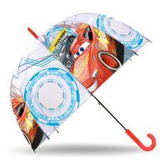 Dáždnik Cars 3 transparentný v tvare zvonu