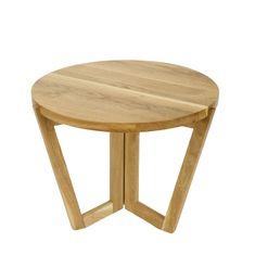 Mørtens Furniture Konferenčný stolík Mollen, 60 cm, dub