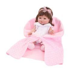 Berbesa Luxusná detská bábika-bábätko Berbesa Monika 35cm Ružová