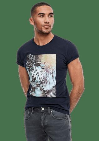 s.Oliver koszulka męska 13.003.32.4690 S ciemnoniebieski