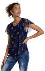 Desigual Dámske tričko Ts Varsovia Estate Blue 20SWTKB6 5016