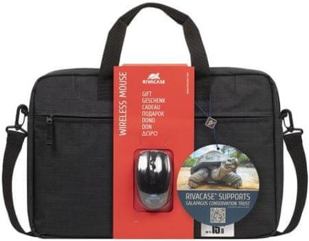 """RivaCase torba za prenosnik 8038/(8038-BNDL), 39,62 cm/15,6"""", črna"""