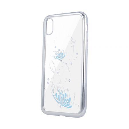 Ovitek Lotus za iPhone 11 Pro Max, silikonski, z okvirjem, srebrn
