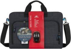 """RivaCase torba za prenosnik 8058/(8058-BNDL), 43,9 cm/17,3"""", črna"""