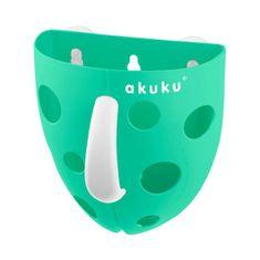 AKUKU Plastový box na hračky do vane Akuku mätový Zelená