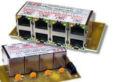 W-STAR 4 port napájecí panel 60V s ochranou, pojistkou a signalizací