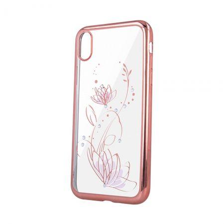 Ovitek Lotus za iPhone 11 Pro Max, silikonski, z okvirjem, roza