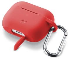 CellularLine Ochranný kryt s karabínou Bounce pre Apple AirPods Pro, červená (BOUNCEAIRPODSPROR)