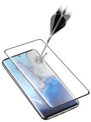 CellularLine Ochranné zaoblené tvrdené sklo pre celý displej Glass pre Samsung Galaxy S20 Ultra, čierna (TEMPGCUGALS11EK)