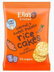 Ella's Kitchen Rýžové koláčky Mrkev a sladký brambor ( 5x40g)