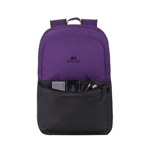 notranji žep za prenosni računalnik Riva Case 15.6'' in ostale manjše predmete, črna/vijolična (5560-SVB)