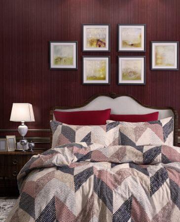 Türkiz posteljnina Ranforce, mreže 140x200 cm
