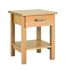Mørtens Furniture Konferenčný stolík s 1 zásuvkou Angelino, 45 cm
