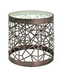 Mørtens Furniture Konferenčný stôl Deane I, 50 cm, antická bronzová