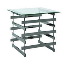 Mørtens Furniture Konferenčný stolík Tony, 55 cm, tmavý chróm