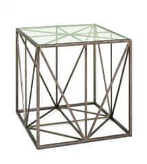 Mørtens Furniture Konferenčný stôl Darrel, 50 cm, antická bronzová