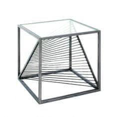 Mørtens Furniture Nočný stolík Arlet, 45 cm, bronz