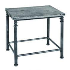 Mørtens Furniture Odkladací stolík Nels, 43 cm, antická čierna
