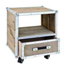 Mørtens Furniture Nočný stolík Gerda, 50 cm, borovica