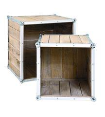 Mørtens Furniture Multifunkčné stolíky Gerda, súprava 2 kusov, borovica