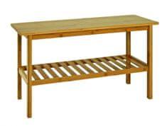 Mørtens Furniture Lavice s policí Piper,47 cm, bambus