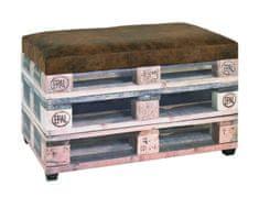 Mørtens Furniture Lavice s úložným prostorem Blaire, 42 cm, hnědá