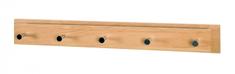 Mørtens Furniture Nástěnný věšák s 5 háčky Angelino, 80 cm