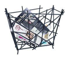 Mørtens Furniture Stojan na noviny Haze, 39 cm, černá