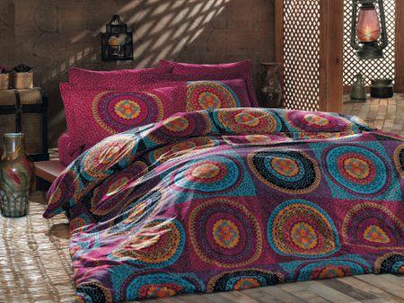 Türkiz posteljnina Ranforce, večbarvna 140x200 cm