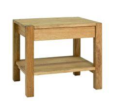 Mørtens Furniture Nočný stolík Molk, 50 cm, dub