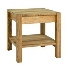 Mørtens Furniture Nočný stolík Molk, 43 cm, dub