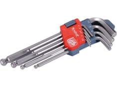 Extol Premium L-tipke IMBUS, set 9 pc, 1,5-10mm, s žoga (6609)