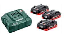 Metabo Basic Set LiHD 3x LiHD 4,0Ah + ASC30-36V karton
