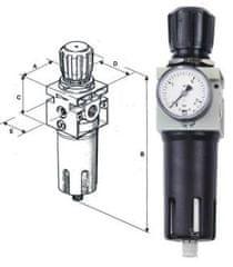 """Schneider Airsystems Redukční ventil s filtrem fdm 1/4"""" d225026 DGKD225026"""