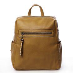 Silvia Rosa Decentný mestský koženkový batôžtek Zoé, žltý