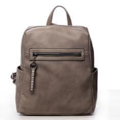 Silvia Rosa Decentný mestský koženkový batôžtek Zoé, tmavo béžový