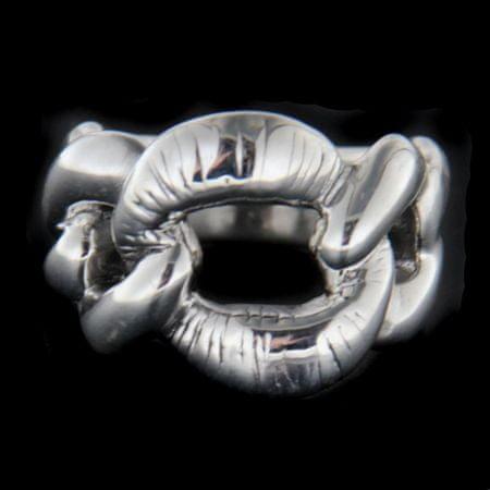 Amiatex Ezüst gyűrű 62961 + Nőin zokni Gatta Calzino Strech, 59