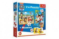 Trefl Puzzle 2v1 + pexeso Paw Patrol/Tlapková patrola 27,5x20,5cm