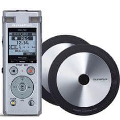 Olympus DM-720 diktafon, srebrn + 2x ME-33 namizni mikrofon