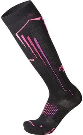 Mico CA01273_159 Light W Oxy-Jet ženske čarape za trčanje, crne, M